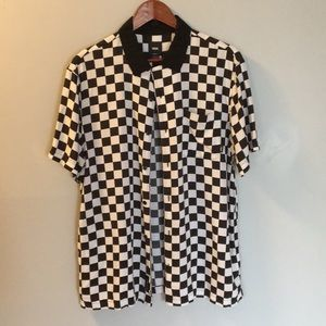 Vans Checker Print Button Up Shirt